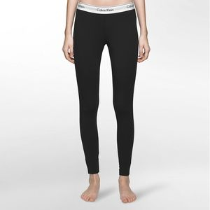 Calvin Klein Black Cotton Leggings